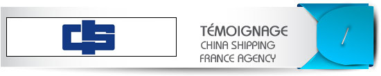 temoignage client OEA AEO : China Shipping
